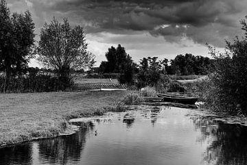 Landschap in zwart-wit van Jos Reimering