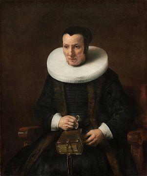 Eine alte Dame mit einem Buch, Rembrandt van Rijn