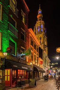 Breda in de avond (vanuit de schoolstraat)