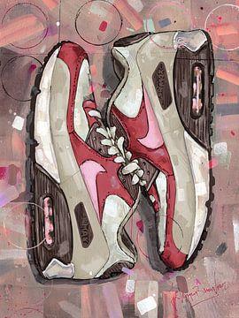 Nike air max 90 Bacon Gemälde. von Jos Hoppenbrouwers