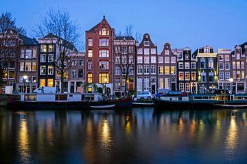 Stadtbild von Amsterdam bei Sonnenuntergang von Nisangha Masselink