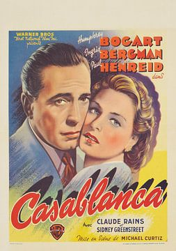 Humphrey Bogart, Filmposter Casablanca (1942) von Bridgeman Images