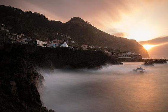 Zonsondergang Porto Moniz van Jens de Vries