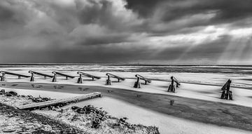 Winter op het IJsselmeer van Aukje Bakker