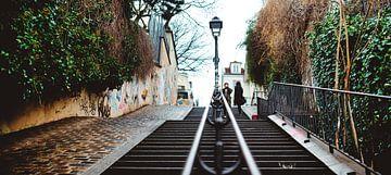 De straten van Montmartre, Parijs van Erik Wardekker