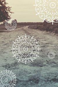 De weg naar het onbekende - Mandala van Mandy Jonen