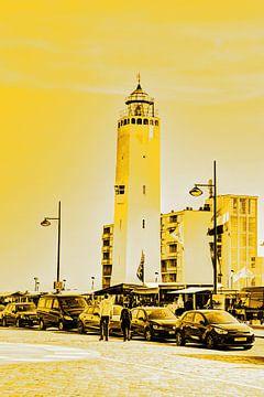 Gouden Vuurtoren Noordwijk aan Zee Nederland van Hendrik-Jan Kornelis