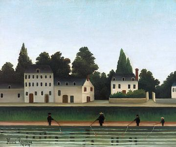 Landschaft mit vier Fischern, Henri Rousseau - 1909