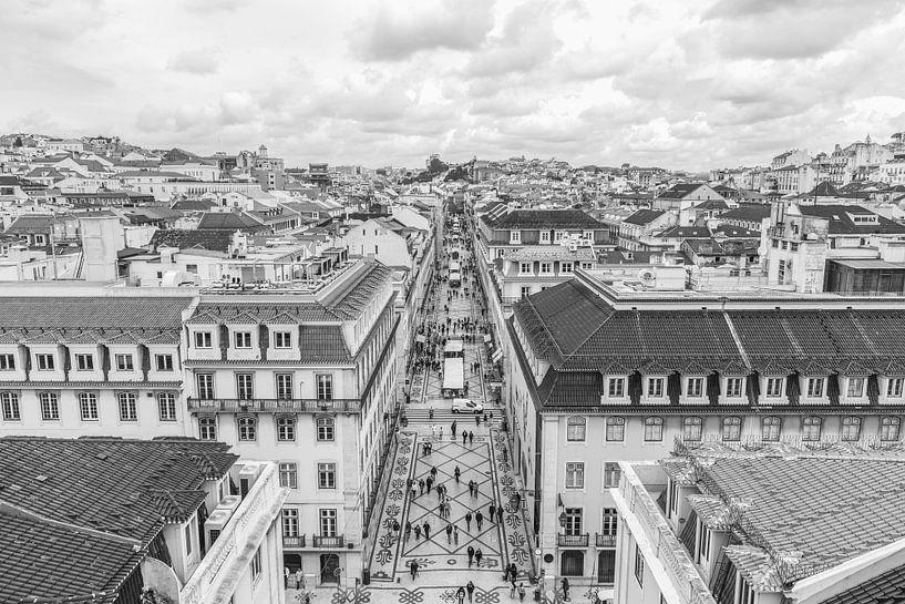 Rua Augusta in Lissabon van MS Fotografie | Marc van der Stelt