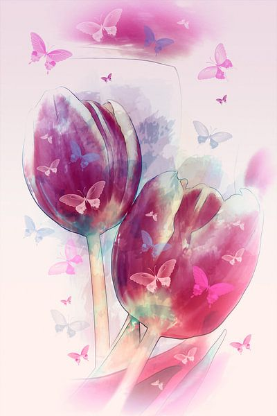 Schmetterlingstanz van Dagmar Marina