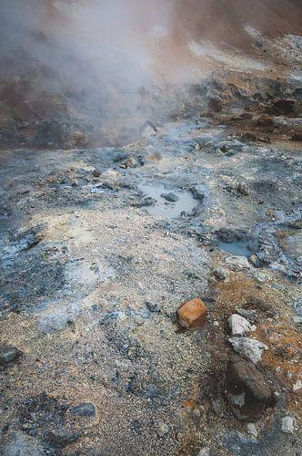Landschap met zwavel op een vulkanisch eiland | IJsland