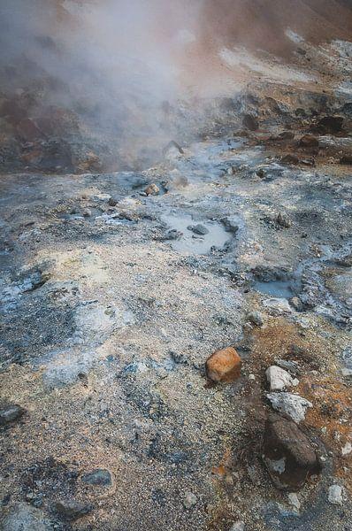 Landschap met zwavel op een vulkanisch eiland | IJsland van Photolovers reisfotografie