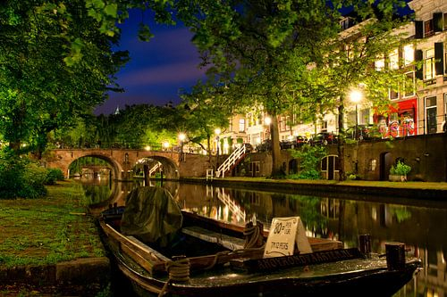 Utrecht Oudegracht: bij Geertebrug von martien janssen