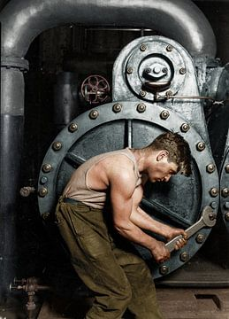 Monteur d'appareils de chauffage, 1921 Lewis Hine sur