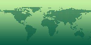Puntjes als wereldkaart