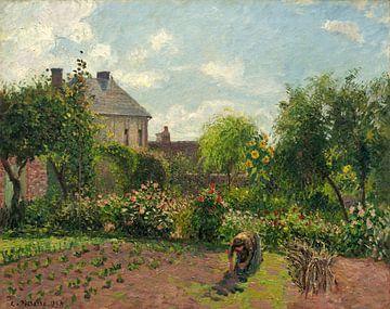 Tuin van de Kunstenaar in Eragny, Camille Pissarro van