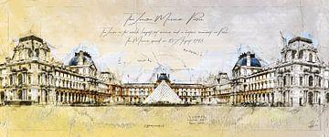 Louvre-museum, Parijs van Theodor Decker