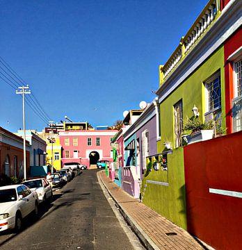 Straat in Kaapstad van zam art