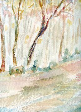 Bäume in Pastell von Claudia Gründler