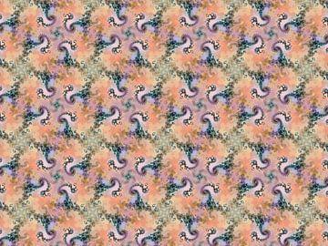 Fractal patroon spiralen van Claudia Gründler