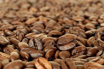 Geurige Geroosterde Glanzende koffiebonen van Michelle Coppiens