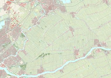 Kaart van Krimpenerwaard