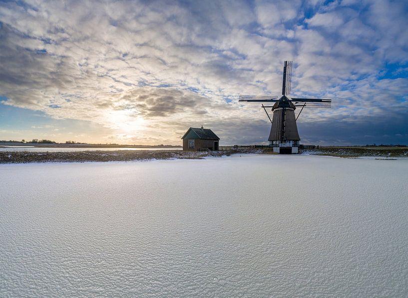 Paysage d'hiver de Texel - Molen het Noorden sur Texel360Fotografie Richard Heerschap