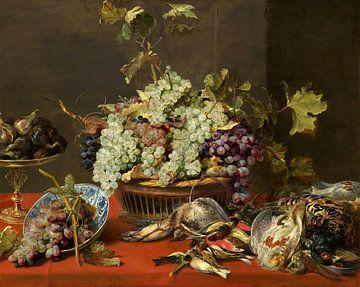 Stilleven met druiven en wild, Frans Snijders van
