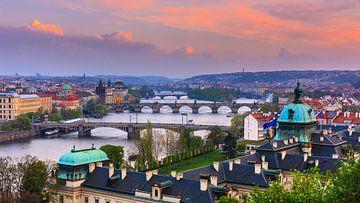 Prague and the river Vitava in the Czech Republic van Henk Meijer Photography