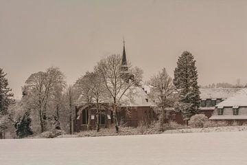 Huize Damiaan te Simpelveld in de sneeuw