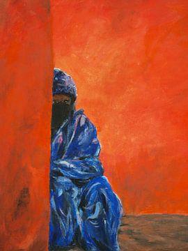 Tuareg sind traditionell in Blau gekleidet. von Ineke de Rijk