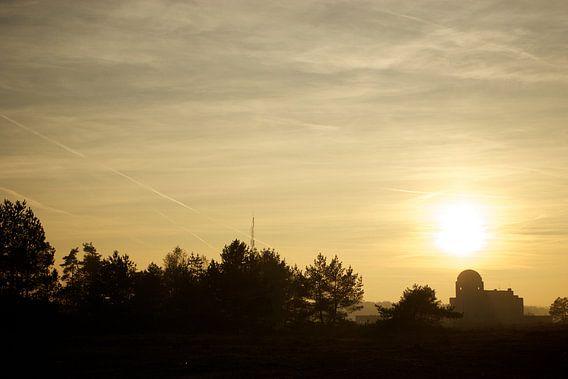 Golden sunset over Radio Kootwijk van Eddo Kloosterman