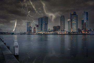 Rotterdam Gewitter von Dennis Donders