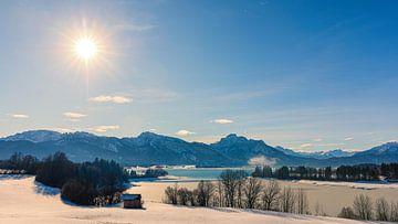 Forggensee in de winter, Beieren, Duitsland van Henk Meijer Photography