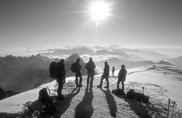 Op de top van de Mont Blanc van