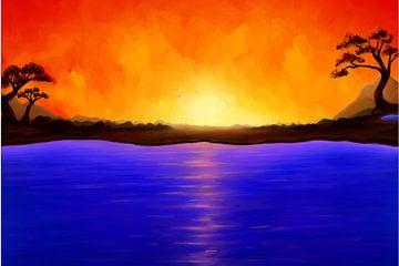 Zwischen Feuer und Wasser. Gemälde. von SWColors