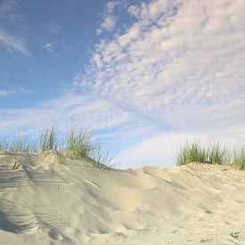Nordseedünen  und Wolken von Ursula Reins