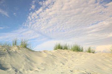 Noordzee-duinen en -wolken van Ursula Reins