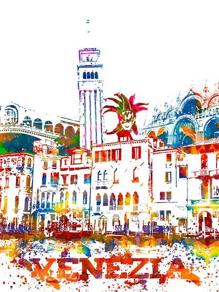 Venetië van Printed Artings
