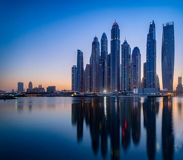 Dubai vroeg in de ochtend van