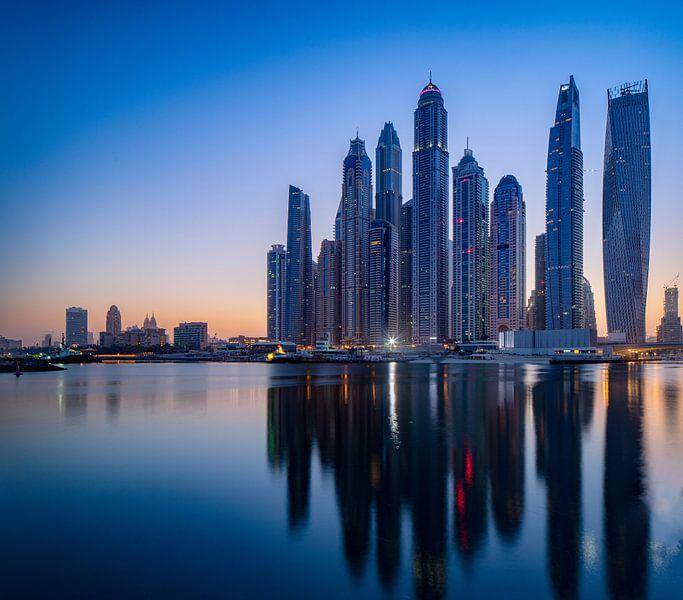 Dubai vroeg in de ochtend van Rene Siebring