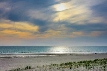 Zonsondergang op de Maasvlakte van Yvonne Smits