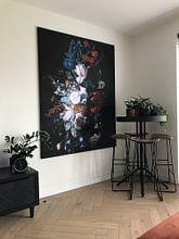 Kundenfoto: Vase mit Blumen, Jan van Huysum, als akustikbild
