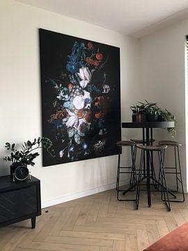 Kundenfoto: Vase mit Blumen, Jan van Huysum