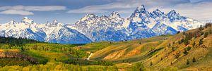 Panorama Grand Teton National Park, Wyoming