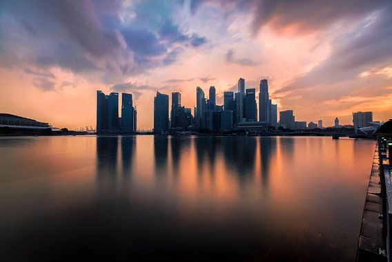 de gloed van Singapore