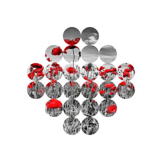 Graphic Art Poppies van Melanie Viola