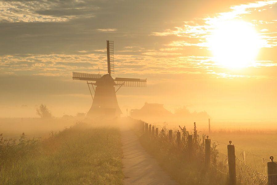 Typisch hollandse zonsopkomst