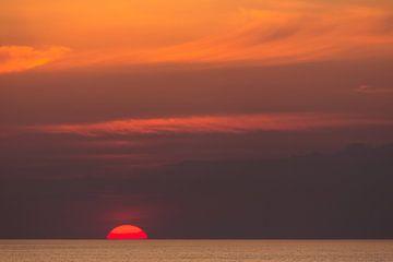 Zonsondergang op de Noordzee von Joke Beers-Blom