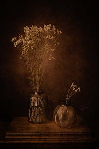 Stilleven met bloemen van Eddy 't Jong
